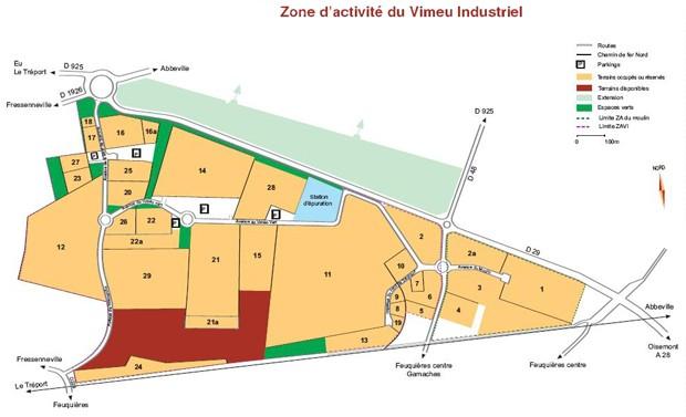 Carte de la zone