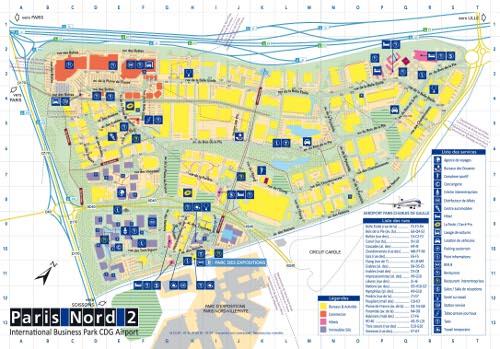 Carte de la zone paris nord 2 la r f rence des zones d 39 activit s zones - Liste magasin paris nord 2 ...